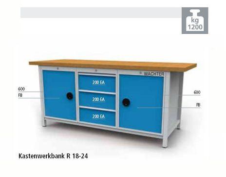 Kastenwerkbank Serie 2000 mit 3 Schubladen BLH 200 mm Höhe 959 mm – Bild 1