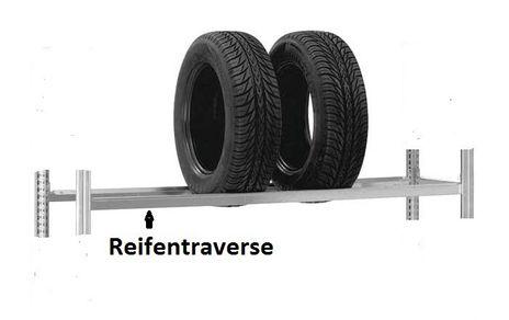 Reifen-/Raederregal, H/B/T: 2500/1000/400 mm, Grundregal verzinkt, – Bild 2