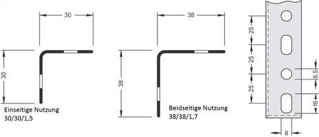 Winkelpfosten für Aktenregal, Höhe: 800 mm, Zubehör – Bild 1