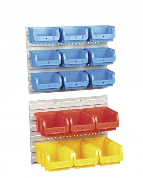 Sichtboxen-Set, blau/rot/gelb – Bild 1