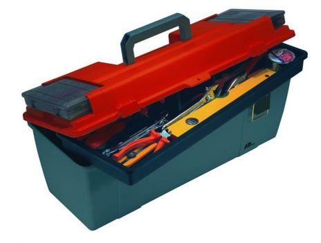 """Werkzeugkoffer 26"""", grau / rot"""