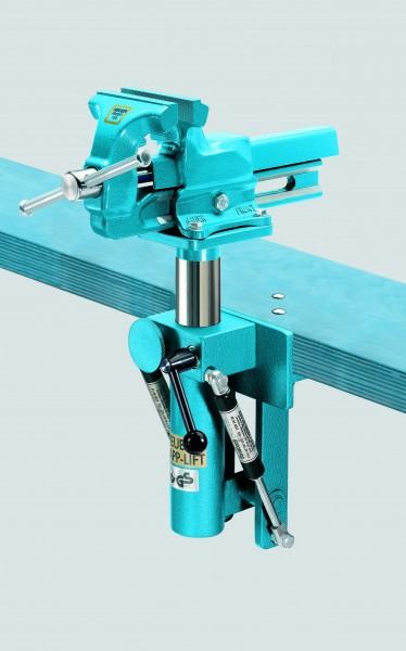 HEUER Klapp-Lift, Backenbreite 120 mm, Tiefster Punkt 590 mm, Einklapptiefe 460 mm, Schwenkradius 430 mm, zulässige Belastung 4-10 kg – Bild 1