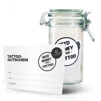 TattooMed® Tattoo Spardose small + Gutscheinvorlage