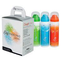 Easypiercing - Pflegeset 3x 50ml + 20 Kompressen Piercingpflege Reinigung- Spray