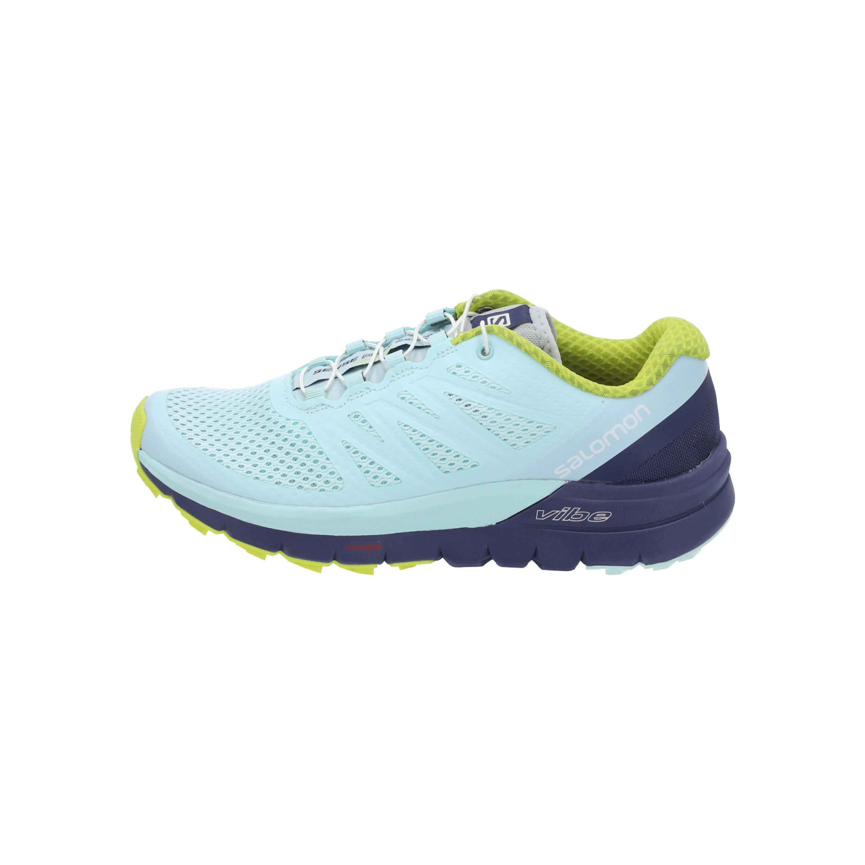 Details zu Salomon SENSE PRO MAX W Damen Sneaker Turn Schuhe Schuhe hell blau NEU OVP