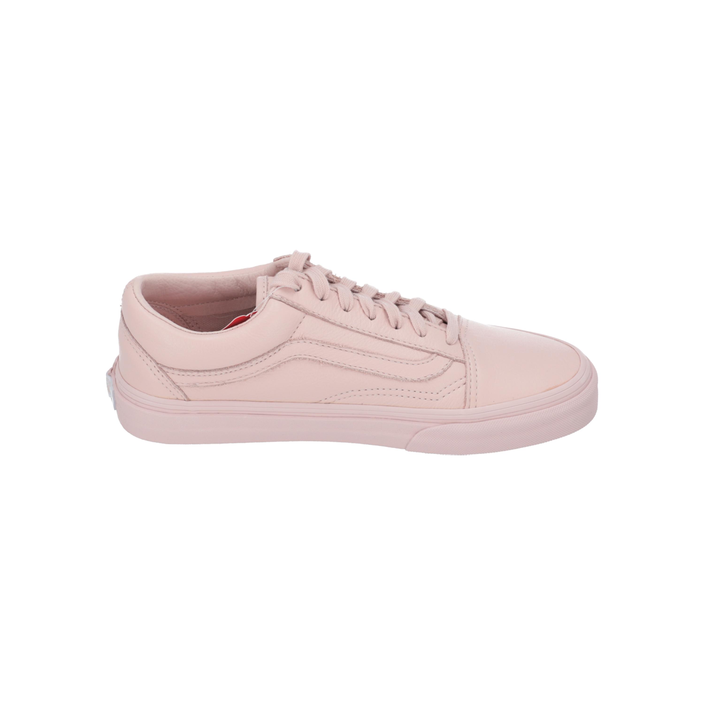 Vans UA Old Skool Damen Herren Sneakers Sport Turn Schuhe rosa Leder NEU Sale