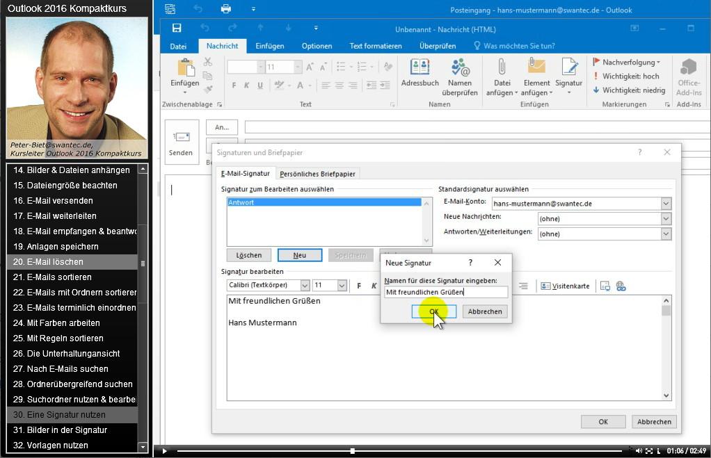 Microsoft Outlook 2016 Kompaktkurs