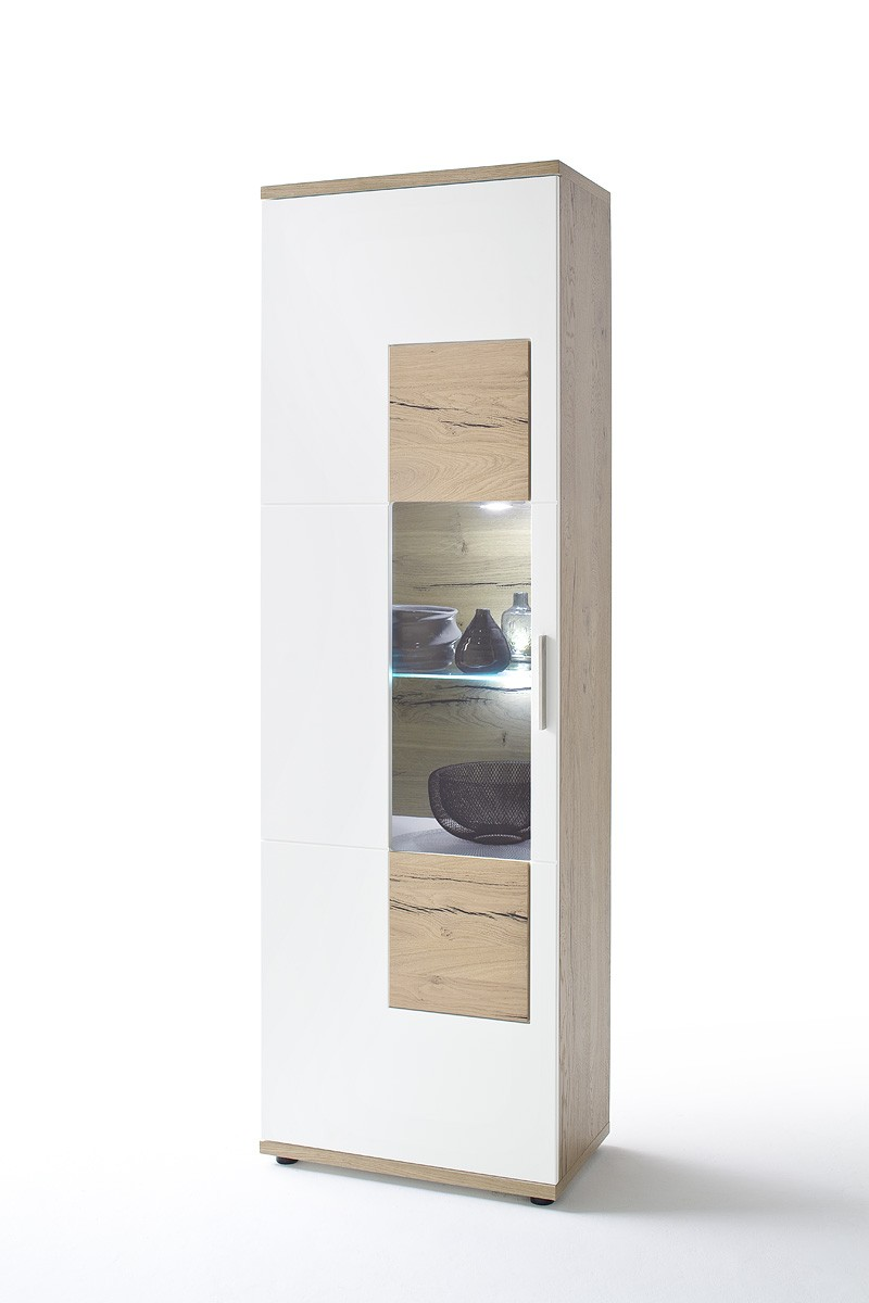 dreams4home vitrine tyson standvitrine sammlervitrine glasvitrine aufbewahrung schrank. Black Bedroom Furniture Sets. Home Design Ideas