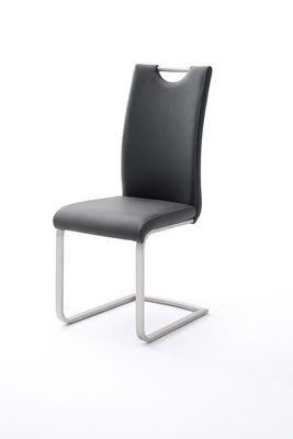 "Schwingstuhlset ""Pia"" - in schwarz, cappuccino, braun, grau, weiß, bordeaux, curry, olive, petrol – Bild 8"