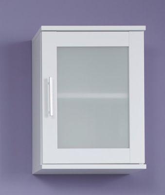 """Hängeschrank """"Lathi V"""", in weiß mit satiniertem Frontglas – Bild 1"""