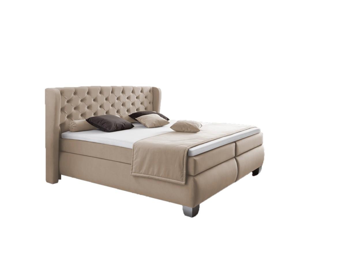 dreams4home boxspringbett liverpool beige sand kt2 140. Black Bedroom Furniture Sets. Home Design Ideas