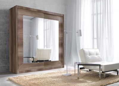 "Schwebetürenschrank ""Fola III"" - in Country Grey oak – Bild 1"
