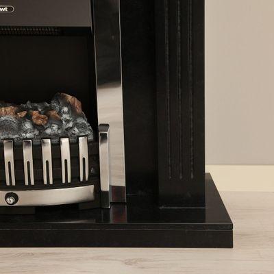 "Elektrokamin ""Lex"" - in marmoriert schwarz/grau – Bild 4"