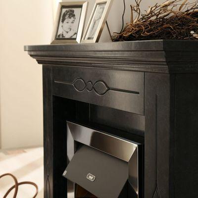 "Elektrokamin ""Cheol"" - in marmoriert schwarz/grau – Bild 5"