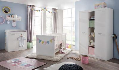 "Kinderbett ""Angel V"", in weiß Dekor – Bild 3"