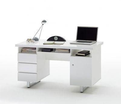 """Schreibtisch """"Dyna II"""" - in Hochglanz weiß"""