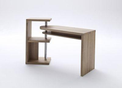 """Schreibtisch """"Stam"""" - in Hochglanz weiß oder Eiche Sägerau – Bild 6"""