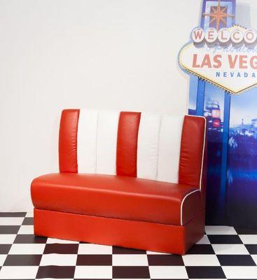"""Sitzgruppe """"Vongas II"""" - in blau/weiß, rot/weiß oder schwarz/weiß – Bild 6"""