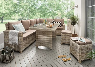 "Lounge Set ""Cudi"" - in beige braun / taupe"