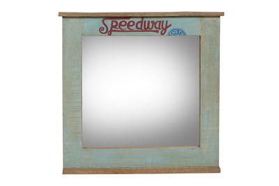 "Wandspiegel ""Speedys"" - recyceltes Altholz - natur + bunt lackiert – Bild 1"