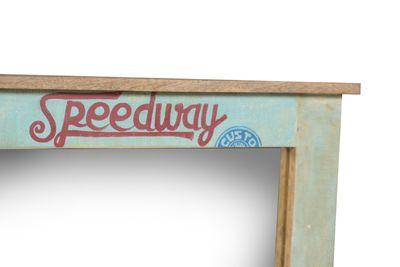 "Wandspiegel ""Speedys"" - recyceltes Altholz - natur + bunt lackiert – Bild 2"