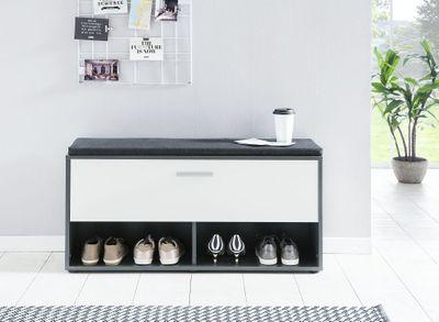 """Schuhregal """"Riolo"""" - in weiß, Sonoma Eiche, Grafit/weiß oder Beton/weiß – Bild 5"""