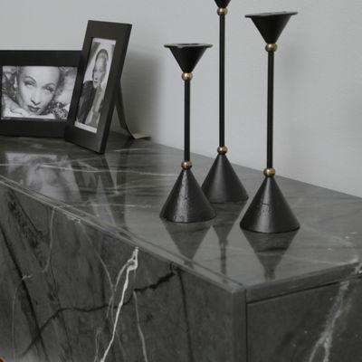 "Elektrokamin ""Valentin I"" - in marmoriert grau/schwarz – Bild 4"