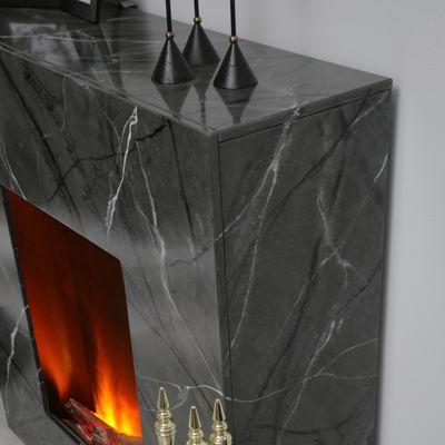 "Elektrokamin ""Valentin I"" - in marmoriert grau/schwarz – Bild 6"