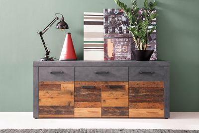 "Sideboard ""Anjoka"" - in Graphit Grau Matera-Old Wood NB – Bild 2"