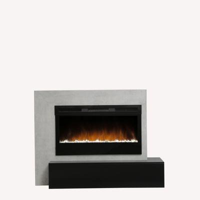 "Elektrokamin ""Calia IV"" - in Betonstruktur betongrau / matt schwarz lackiert – Bild 3"