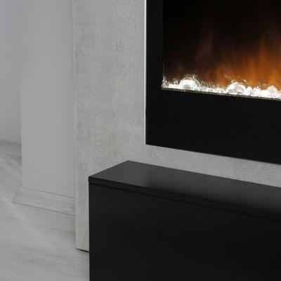 "Elektrokamin ""Calia IV"" - in Betonstruktur betongrau / matt schwarz lackiert – Bild 5"