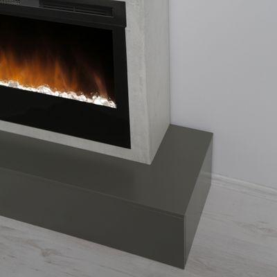 "Elektrokamin ""Calia V"" - in Betonstruktur betongrau/schwarzgrau lackiert – Bild 5"