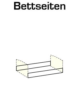 """Umbauseiten Babybett """"Shelly"""" - in Alpinweiß, Abs. Eiche sägerau NB"""