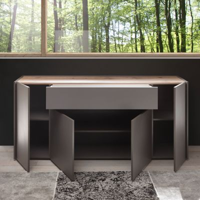 "Sideboard ""Optaris"" - in Anthrazit/Wotan Eiche NB – Bild 3"