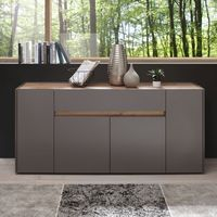 "Sideboard ""Optaris"" - in Anthrazit/Wotan Eiche NB"