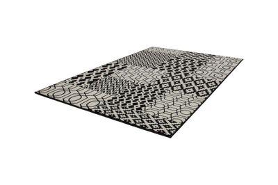 """Teppich """"Nali II"""" - in schwarz - weiß / gemustert - in vielen Größen – Bild 3"""