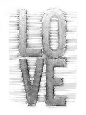 "Wandbild ""Love"" - in silber - 80 x 100 cm – Bild 2"