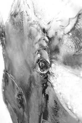 "Wandbild ""Cowdy"" - in silber - 80 x 100 cm – Bild 3"