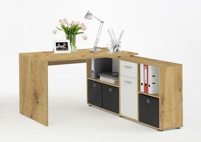 """Schreibtisch """"Elixo"""" - in Artisan Eiche / weiß – Bild 1"""