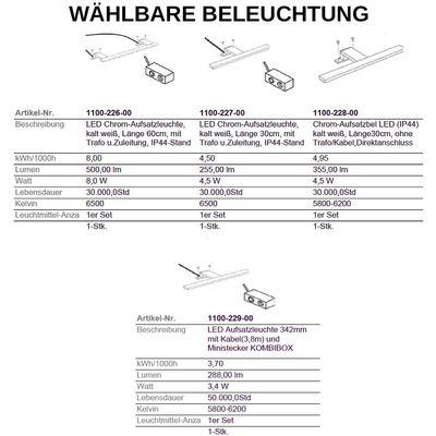 "Badezimmer-Set ""Milow III"" - in weiß melamin – Bild 7"