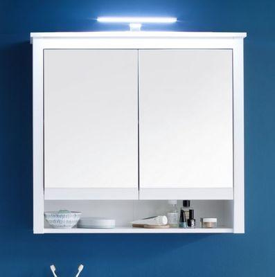 """Badezimmer-Spiegelschrank """"Milow X"""" - in weiß melamin – Bild 2"""