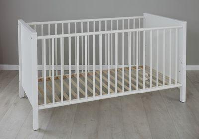 """Babybett """"Juna VII"""" inkl. Juniorbettseiten - in weiß – Bild 3"""