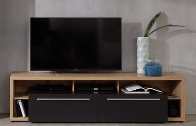 "TV-Lowboard ""Nino VI"" - grau matt / Asteiche Melamin – Bild 2"