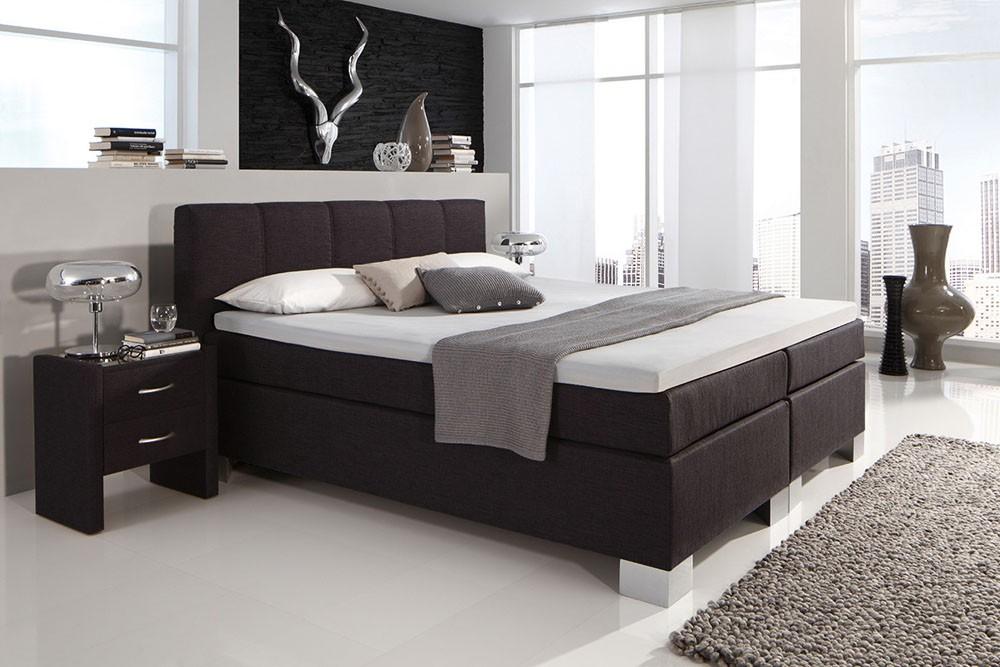 dreams4home boxspringbett manhattan kt1 anthrazit 100. Black Bedroom Furniture Sets. Home Design Ideas
