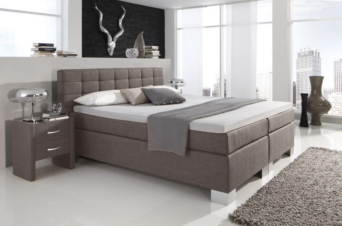 dreams4home boxspringbett manhattan kt2 hellbraun 100. Black Bedroom Furniture Sets. Home Design Ideas