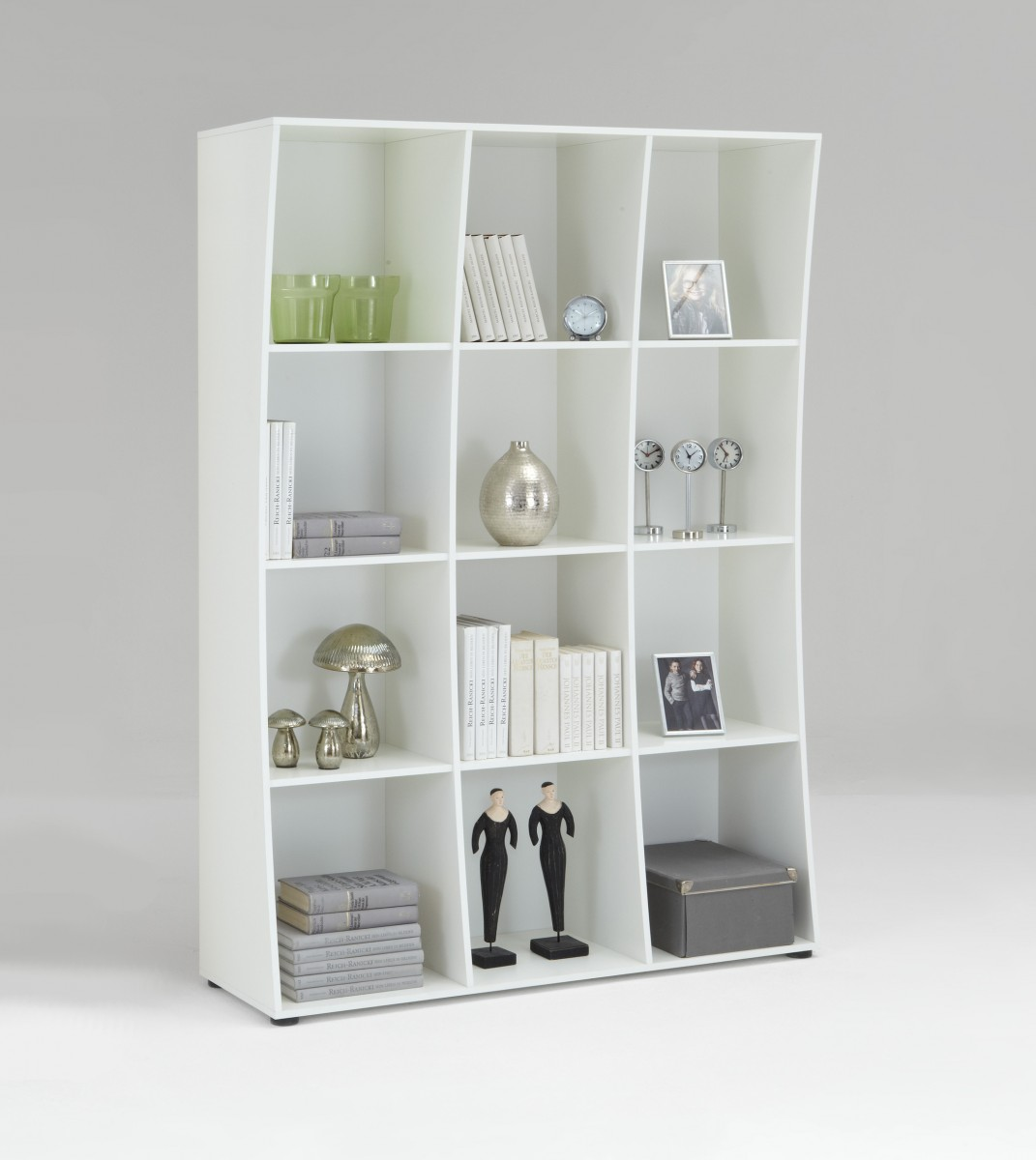 Regal weiß design  Dreams4Home Regal Kuba II. Regalschrank Bücheregal Standregal Design ...