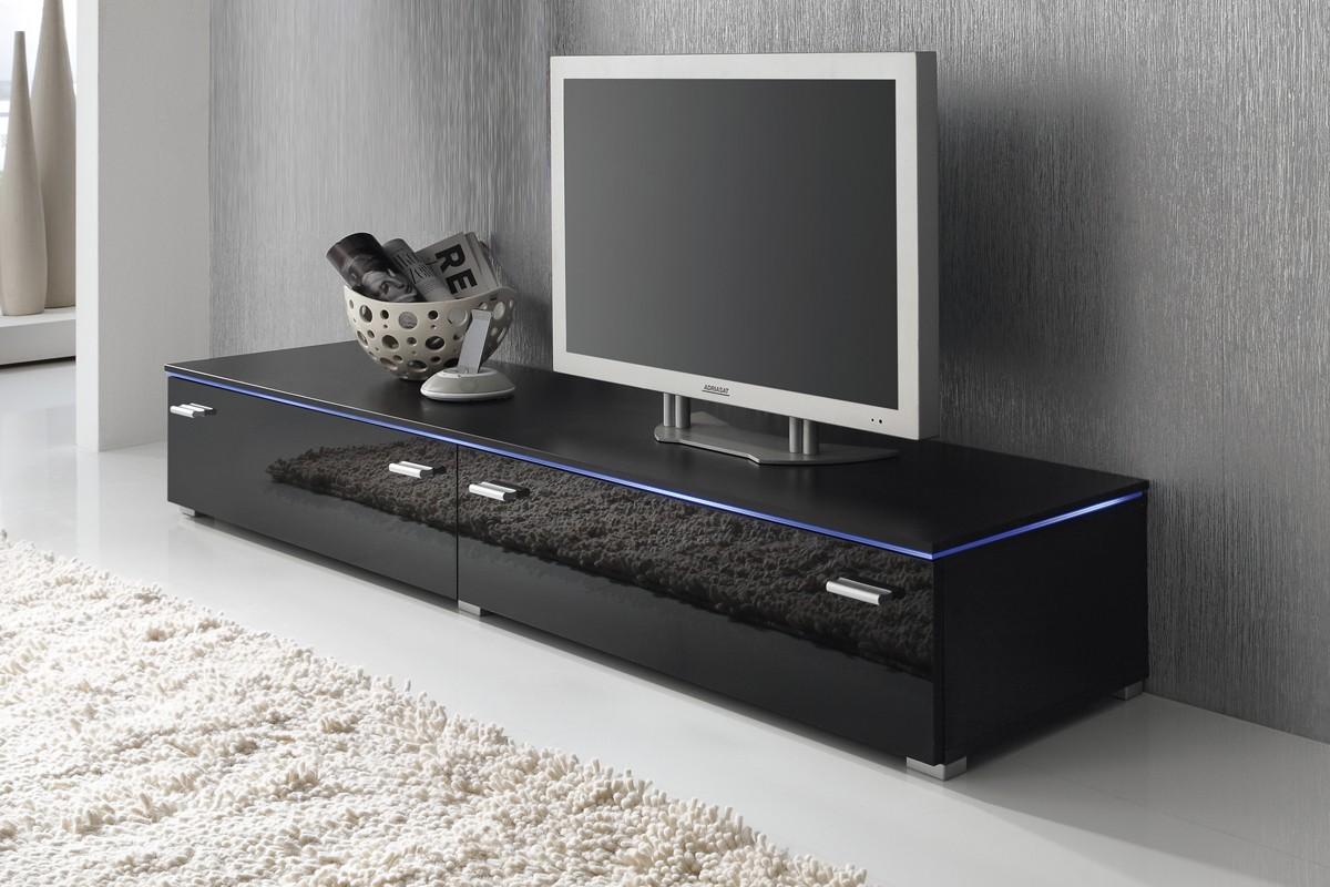 Tv lowboard schwarz matt  Lowboard TV Schrank TV-Element 180 cm schwarz Fronten Hochglanz ...