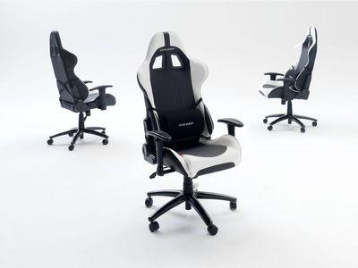 """Chefsessel """"Cruiser V"""", in Racer Optik, schwarz/weiß – Bild 2"""