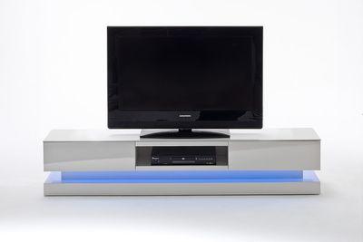 "TV-Lowboard "" Prime "", in Hochglanz weiß lackiert, inklusive RGB-LED Beleuchtung – Bild 1"