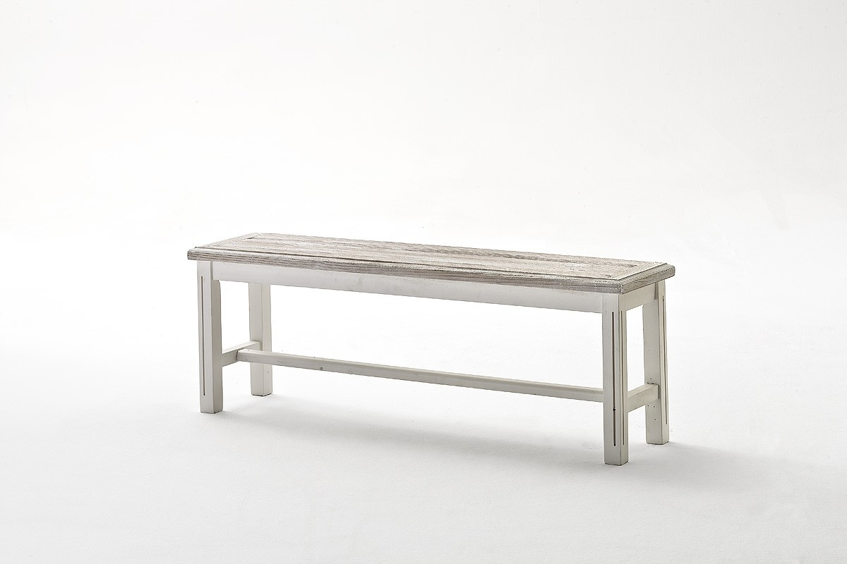 Esszimmer Bank Holz | Dreams4home Bank Massiv Juno In Antik Weiss Esszimmer